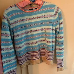 Gap girls xxl lambs wool fair isle sweater, NWT